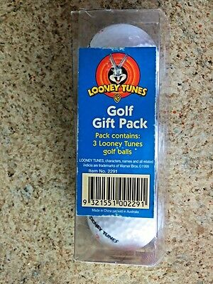 Vintage Looney Tunes Golf Gift Pack of 3 Balls Unopened