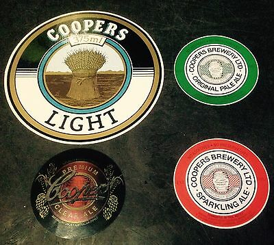 Coopers Stickers x 4 Various.