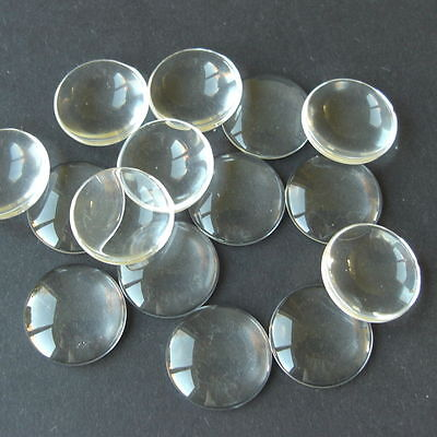 1 25 50  CLEAR ROUND CABOCHON GLASS DOME SEALS 14mm