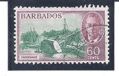 BARBADOS...# 225  ( 60 Cents )...1950...Used...SCV $ 13.75