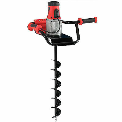 Electric Drill Post Hole Ice Lake Fishing Auger Earth Soil Digger 1200W 1.6HP