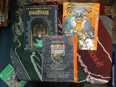 COLLECTION OF 3 x CONSPECTUS - BIRTHRIGHT, FORGOTTEN REALMS & PLANESCAPE - AD&D