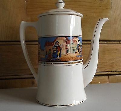 CROWN DUCAL 'CRIES OF LONDON  COFFEE POT - 1920's
