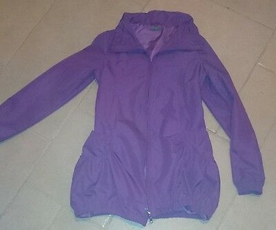 Girls Purple Benetton Fitted longer length jacket Age 10-11
