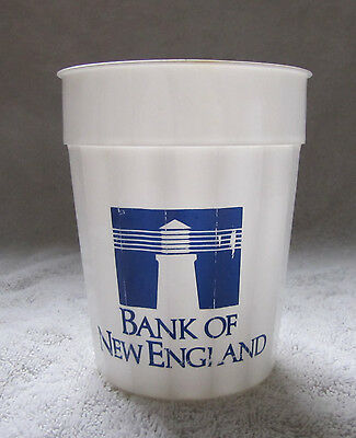 Vintage Rare 1980's Bank of New England White Blue Lighthouse Large Plastic Cup