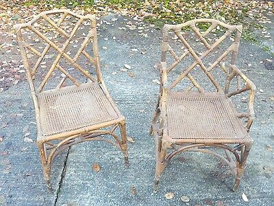 Pair of old Bamboo chairs Good condition