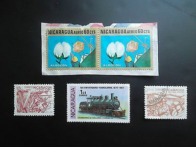 NICARAGUA old used / mint Postage Stamps on and off paper various years