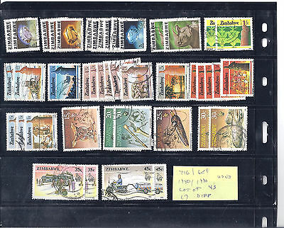 ZIMBABWE...# 416/629...1980/90...Used...Lot of 43... 17 Different