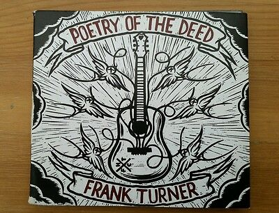Signed autograph frank turner poetry of the deed cd
