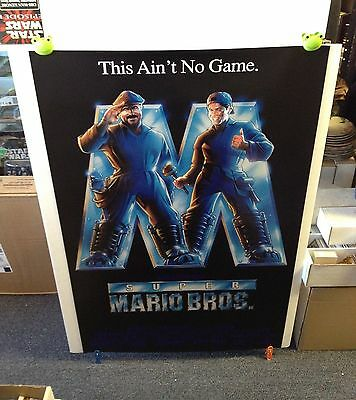 SUPER MARIO BROS Movie Poster 27x40 One Sheet / 2-Sided 1993