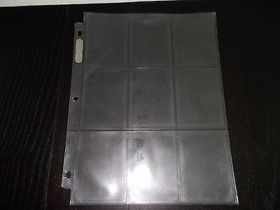 Trading card Protectors-10 sheets of 9 Pocket Card Pages Holders Sheets