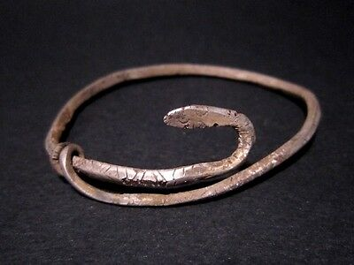 Extremely Rare Roman Silver Snake Bracelet, As Found Condition++++++