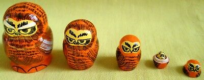 Owls Russian Traditional Nesting Doll/Hand Made-Micro size/5-pcs Set/NEW!!!