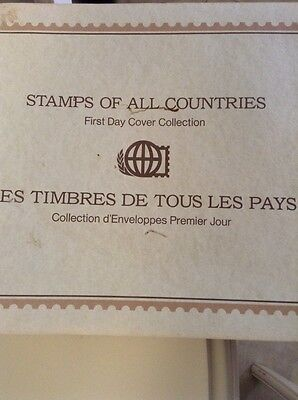 Stamps of All Countries 205 First Day Covers 1977-83 In Two Albums