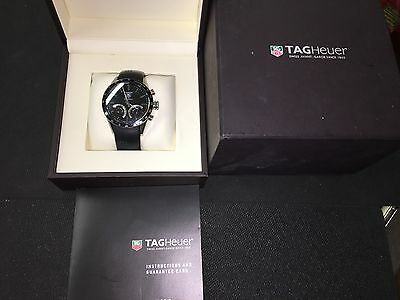 Tag Heuer Calibre S Carrera Gents Swiss Watch Chronograph SS Case Silicone Strap