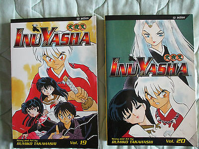 InuYasha Graphic Novel Manga #19 & #20 by Rumiko Takahashi in English