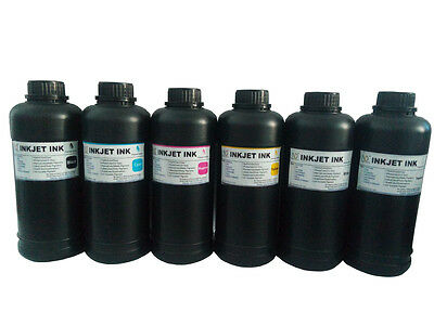 6x500ml Premium Led UV Curable ink for Mimaki UJV-160  LH-100 UV ink