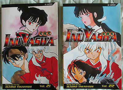 InuYasha Graphic Novel Manga #21 & #22 by Rumiko Takahashi in English