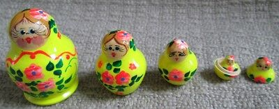 Russian Traditional Nesting Doll/Hand Made-Micro size/5-pcs Set/NEW!