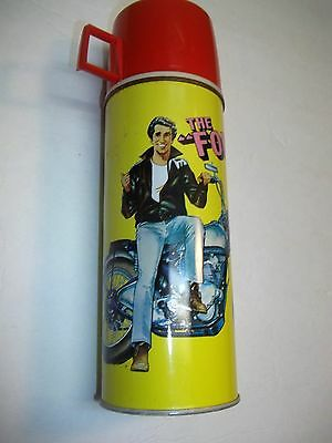 """VINTAGE LARGE THE FONZ """"happy days"""" THERMOS    10"""" TALL"""