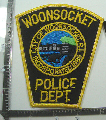 Woonsocket RHODE ISLAND Police Patch RI Old Obsolete MILL