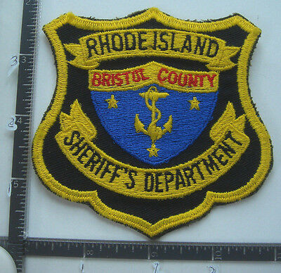 Bristol County SHERIFF Dept. RHODE ISLAND Police Patch RI Old Obsolete