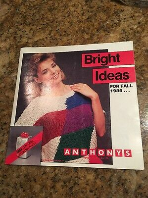 Vintage Anthony's Catalog From Fall 1985