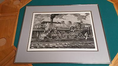 Prosperity Special Etching by Philip C Thompson Signed 26/75 Railroad Train