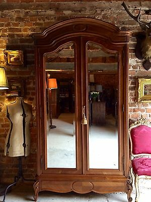 Fabulous Antique Early 20th Century Walnut French Armoire Wardrobe