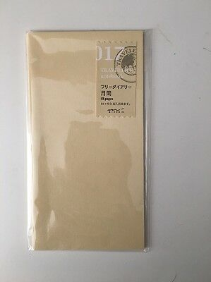 1 X Midori Travelers Notebook Refill 017 Monthly 48 pages