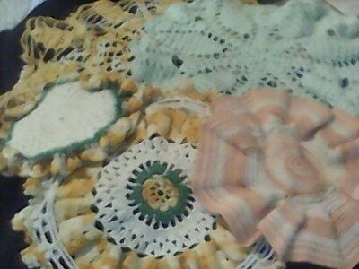 Lot Of 5 Vintage Doilies All Different