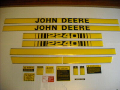 John Deere 2240 tractor hood decal set with caution kit