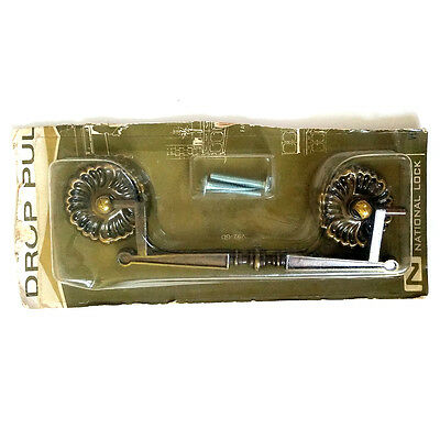 Vtg Antique Brass Drawer Drop Pull National Lock Hardware Italian Classic NIP • CAD $10.02