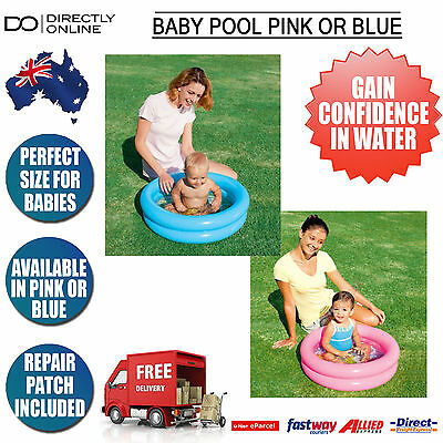 Baby Inflatable Swimming Pool Toddler Outdoor Water Fun Toy Kids Pink / Blue New