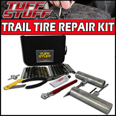 Tuff Stuff Tire Repair Kit with Tools, Plugs, Patches & Storage Case