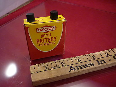 Vintage Ray-O-Vac No. 714  Battery 4-1/2 Volts