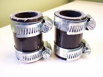 Yamaha Banshee exhaust pipe clamps all years fmf,dg Factory BLACK