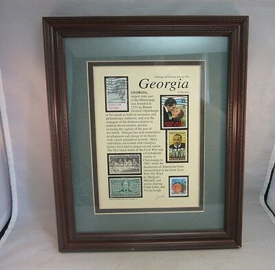 1997 Jack Rabbit Studio framed postal stamps. Georgia Collection.Signed by Jack