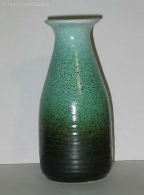Eric Juckert Green Vase with Black Flecks. Australian Pottery