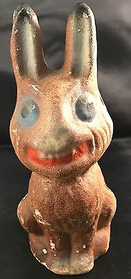 Vintage Creepy Paper Mache Bunny Rabbit Candy Container