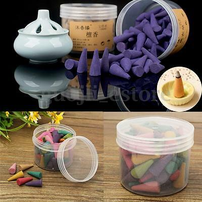 80Pcs Box Incense Cones Sticks Mixed Scents Fragrance Relax Burner Aromatherapy