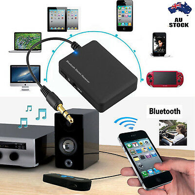 Wireless Bluetooth Audio Stereo Music Home Car Receiver 3.5mm AUX Speaker AU