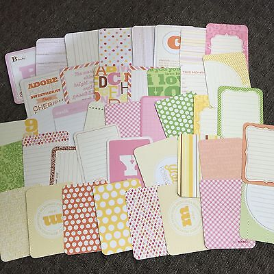 """Project Life Cards Baby Edition For Her - 40 Cards- 3x4"""""""
