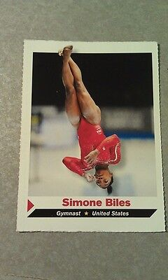Simon Biles #292 Gold Sports Illustrated for Kids SI For Kids Gymnastics Rookie