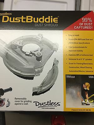 "7"" DustBuddie Dust shroud kit fits all major brands angle grinders Dust Buddie"