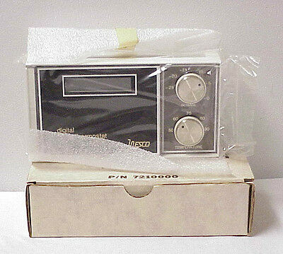 Wesco Mountable Digital Clock Thermostat Solid State Nos Mdl. D.c.t. P/n 7210000
