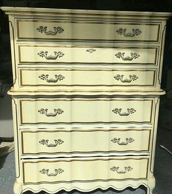 French Provincial Dresser Chest of Drawers Bassett Tallboy with nightstand