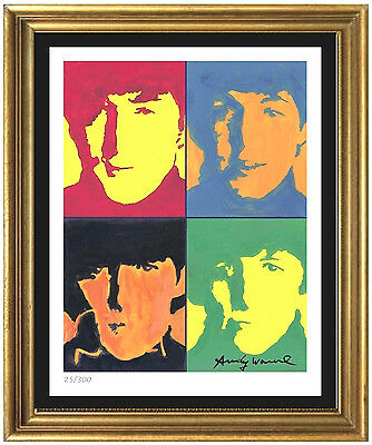 """Andy Warhol Signed & Hand-Numberd Limited Edition """"The Beatles"""" Lithograph Print"""