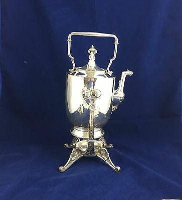 Reed And Barton Victorian Silverplate Hinged Kettle Teapot