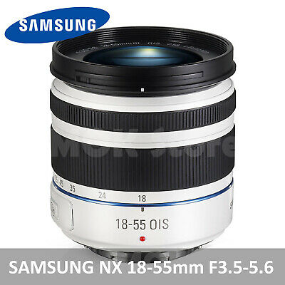 SAMSUNG NX 18-55mm F3.5-5.6 OIS III i-Function Lens For NX (white) -S1855CSW